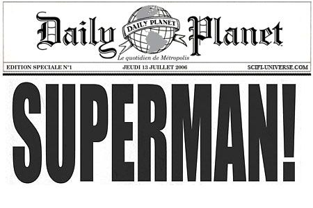 Daily Planet Press Pass Template