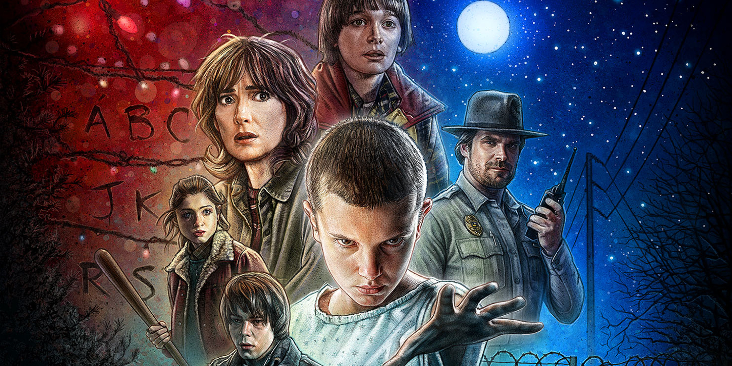Stranger-Things-Illustrated-Poster