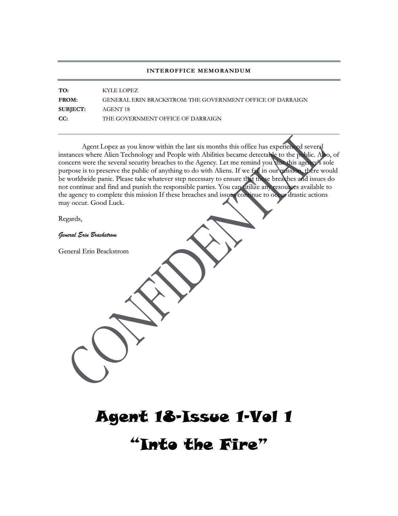 Agent 18 – Issue 1-1