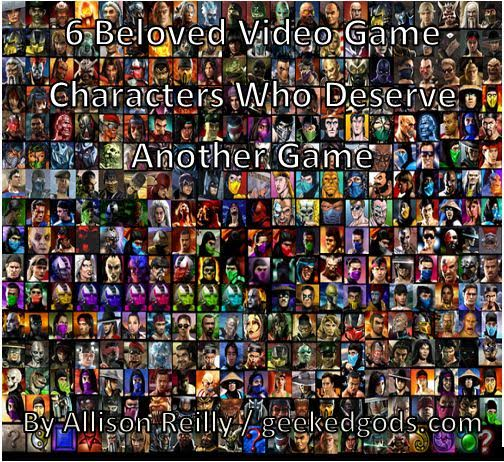 6 bELOVED vIDEO gAME cHARACTERS COVER