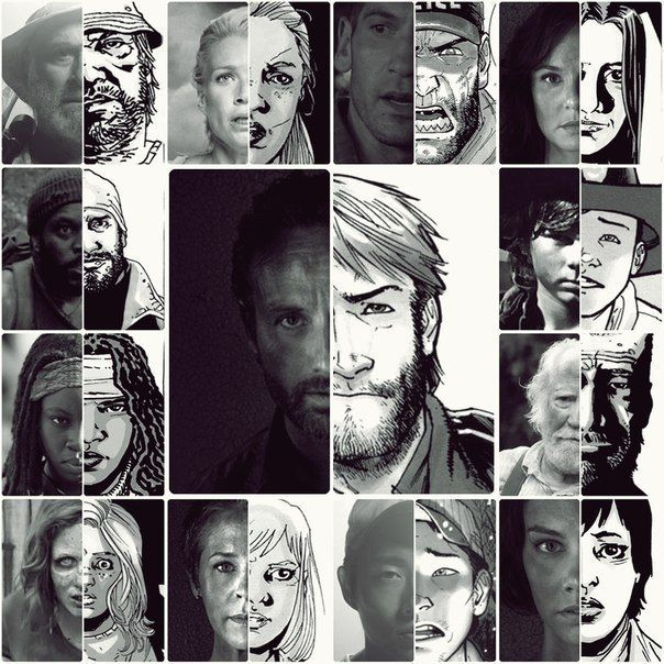 The Walking Dead Comic Vs Series
