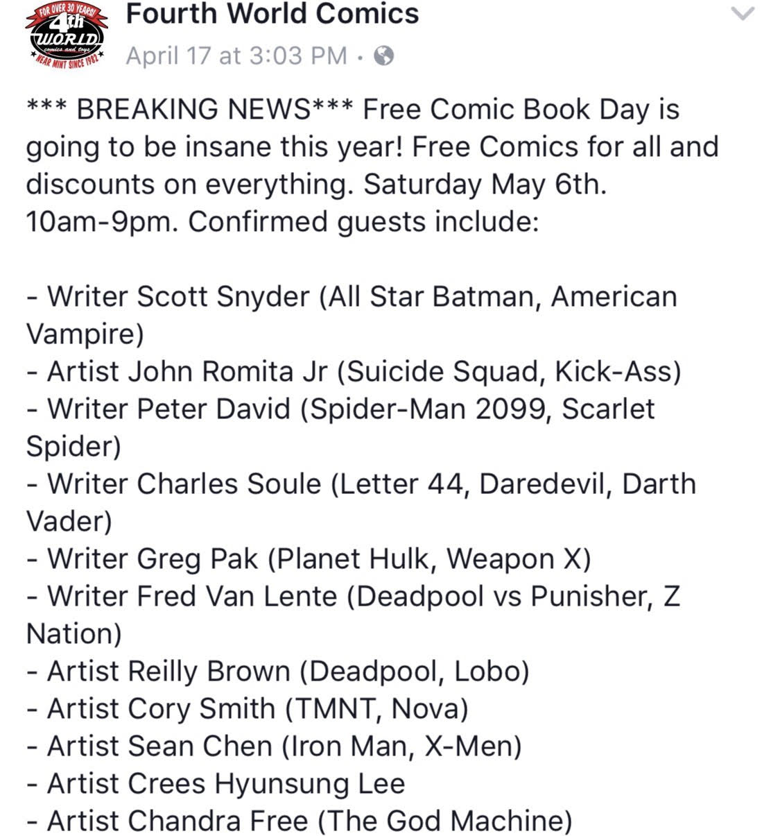 Fourth World Comics FCBD