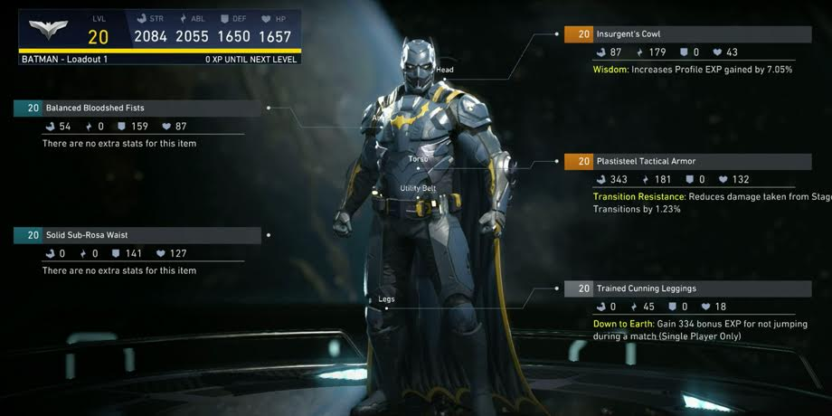 Injustice 2 Gear