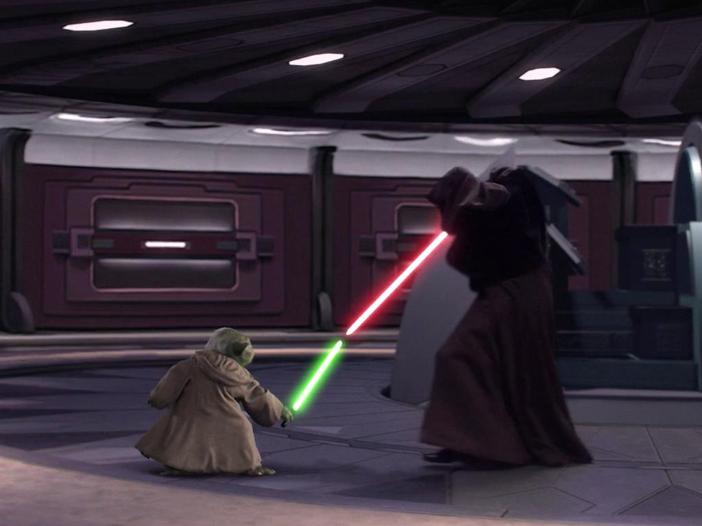 Yoda Palpatine Duel