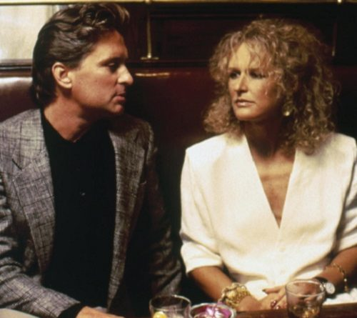 Michael Douglas and Glenn Close